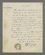 Certificat de bonne moralité rédigé par Demous, maire de la Croix-Rousse, concernant Auguste Curt.