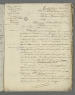 Lettre de Pierre Charnier adressée à l'abbé Faivre, dans laquelle il l'informe de l'issue du second conseil de guerre au cours duquel fût jugé Curt, inculpé après l'insurrection de juin.