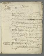 Lettre de Pierre Charnier adressée à Pavy dans laquelle il lui fait part des conséquences de sa défense au second conseil de guerre au cours duquel fût jugé Curt, inculpé après l'insurrection de juin.