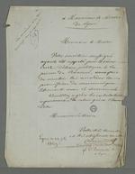 Lettre de Pierre Charnier adressée au maire de Lyon dans laquelle il effectue la demande de permission de communiquer librement avec le détenu Curt, inculpé après l'insurrection de juin, qu'il est chargé de défendre.