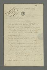 Lettre d'Auguste Curt, détenu à la prison de Roanne, adressée à Pierre Charnier, chargé de le défendre pour son inculpation après l'insurrection de juin, .