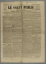 Première page de l'exemplaire du numéro 548 daté du