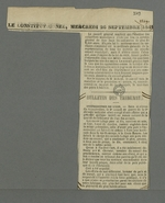Coupure de presse extraite du numéro daté du