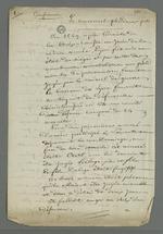 Notes de Pierre Charnier dans lesquelles il relate l'affaire Curt sous l'intitulé