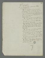 Notes issues du troisième interrogatoire de Depassio concernant la journée du