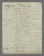 Notes prises par Pierre Charnier au cours des auditions de Vagner, témoin à décharge, ainsi que Court, Royer, Franchet et Alquet, témoins à charge, dans l'affaire des inculpés accusés d'avoir participé à l'occupation de la mairie de la Croix-Rousse et à l'organisation de l'insurrection du