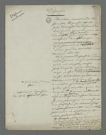 Préparation de la défense de Depassio, accusé d'avoir participé au comité révolutionnaire occupant la mairie de la Croix-Rousse durant l'insurrection du