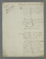 Brouillon de la défense de Depassio, accusé d'avoir participé au comité révolutionnaire occupant la mairie de la Croix-Rousse durant l'insurrection du