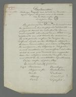 Copie de la proclamation du comité révolutionnaire rédigée durant l'occupation de la mairie de la Croix-Rousse durant l'insurrection du
