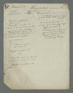Notes prises par Pierre Charnier au cours de l'audition des témoins dans l'affaire des inculpés accusés d'avoir participé à l'occupation de la mairie de la Croix-Rousse et à l'organisation de l'insurrection du