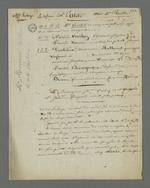 Notes de Pierre Charnier concernant les différents témoignages permettant d'établir un alibi à Laloge père, en vue de l'appel à sa condamnation pour avoir participé au dépavage durant l'insurrection de juin 1849.