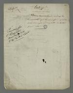 Notes de Pierre Charnier concernant la défense de Laloge père, en vue de l'appel à sa condamnation pour avoir participé au dépavage durant l'insurrection de juin 1849.