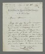 Notes de Pierre Charnier concernant Duminge, témoin à charge dans l'affaire Laloge, en vue de l'appel à sa condamnation pour avoir participé au dépavage durant l'insurrection de juin 1849.