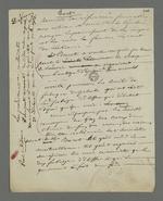 Notes personnelles de Pierre Charnier concernant les différences de points de vue politique entre lui et Etienne Bacot, propagandiste socialiste, fondateur de sociétés fraternelles et gérant d'une épicerie socialiste.