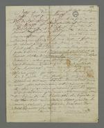 Projet de défense de Bacot par lui-même contre les accusations portées contre lui, au sujet de sa participation à l'insurrection de juin 1849.