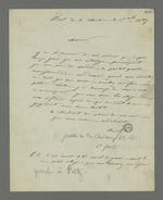 Lettre d'Etienne Bacot, détenu au fort de la Vitriolière, adressée à Pierre Charnier dans laquelle il lui demande de bien vouloir prendre connaissance de son dossier et de faire les démarches nécessaires pour qu'ils puissent se rencontrer au plus vite.