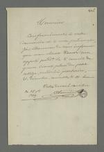 Lettre de Pierre Charnier dans laquelle il informe un destinataire inconnu de la date et du lieu où se tiendra le second conseil de guerre au cours duquel sera jugé Etienne Bacot dont il assure la défense.