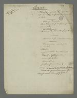 Notes diverses de Pierre Charnier en vue de la plaidoirie de défense d'Etienne Bacot, accusé d'avoir participé à l'insurrection du