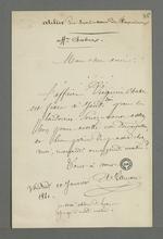 Lettre adressée à Pierre Charnier et rédigée par Lançon, avocat de Virginie Chabre, ancienne apprentie à l'atelier communauté Providence Jésus-Marie de Fourvière, dans l'affaire qui l'oppose à ses anciennes employeuses.