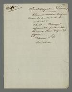 Notes de Pierre Charnier concernant une séance d'interrogatoire d'Etienne Bacot, accusé d'avoir participé à l'insurrection du