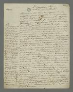 Déposition du témoin à charge Racine, contre Etienne Bacot, accusé d'avoir participé à l'insurrection du