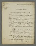 Lettre de Pierre Charnier adressée au général Gémeau dans laquelle il lui demande l'autorisation d'obtenir un visa qui lui permette de visiter les détenus Bacot et Fritz qui l'ont choisi comme défenseur à leur procès en conseil de guerre.