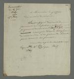 Lettre de Fritz et Supier, rédigée par Pierre Charnier, et adressée au greffier du conseil de révision, l'informant de la décision des expéditeurs de pourvoir en cassation le jugement de révision.