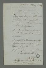 Lettre de Fritz, détenu à la Vitriolerie, adressée à Pierre Charnier, dans laquelle il lui demande de bien vouloir le défendre à la commission de révision lors de l'appel à sa condamnation à cinq ans de détention.