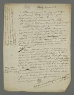 Notes de Pierre Charnier concernant la révision du procès de Fritz, au cours duquel il s'est vu condamné à cinq ans de détention pour avoir participé à l'insurrection de