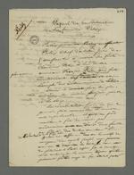 Notes de Pierre Charnier comportant des informations sur la vie de famille, la réputation de Fritz, ainsi que le témoignage du déroulement des évènements du