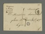 Lettre de François Fritz adressée à Pierre Charnier, dans laquelle il le remercie profondément d'avoir obtenu sa libération grâce au recours fait au jugement du conseil de guerre.