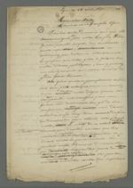 Brouillon d'une lettre de Pierre Charnier adressée à François Fritz dans laquelle il effectue des retours sur les démarches qui ont conduit à l'obtention de sa libération.