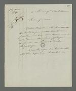 Lettre de Pierre Charnier adressée au général Castellane dans laquelle il lui demande de jouer le rôle d'intermédiaire pour faire passer la demande de grâce pour Fritz auprès du président de la république.