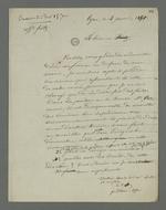 Lettre de Pierre Charnier adressée à Claudia Félix, épouse de l'accusé Fritz, dans laquelle il lui fait part de son refus d'être le défenseur de son mari en cassation, tâche au-dessus de ses compétences.
