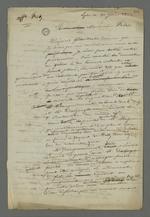 Brouillon d'une lettre de Pierre Charnier adressée à Félix, beau-père de l'accusé Fritz, dans laquelle il lui donne son avis sur l'issue du jugement en cassation de son gendre.