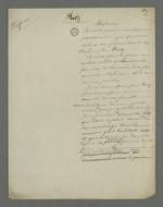 Ebauche de plaidoirie rédigée par Pierre Charnier, en vue de la défense en cassation de Fritz, condamné en première instance pour avoir participé à l'insurrection de juin 1849.