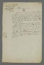 Copie de la lettre de Claudia Félix, épouse de l'accusé Fritz, adressée à son époux détenu à Riom, dans laquelle elle lui joint la lettre de recours en grâce, lui recommandant de ne la montrer à personne.