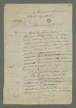 Lettre de recours en grâce rédigée par Pierre Charnier pour l'accusé Fritz, condamné à cinq ans de détention pour avoir participé à l'insurrection de juin 1849, adressée au président de la République.