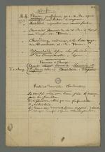 """Liste des témoins impliqués dans l'affaire Bézénac, jugé par contumace et condamné à la déportation, suivie des adresses des """"domiciles clandestins"""" qu'il a occupé dans sa """"fuite""""."""
