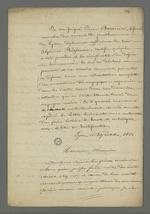 Lettre de Pierre Charnier dans laquelle il présente la lettre datée du