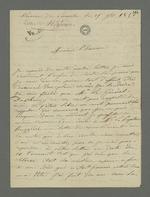 Lettre de Bézenac, détenu à la prison de Perrache, adressée à son défenseur Pierre Charnier.