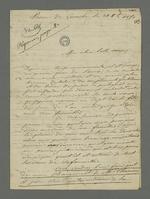 Lettre de Bézenac, détenu à la prison de Perrache, adressée à sa belle-soeur et à ses nièces, suivie de la réponse de Pierre Charnier.