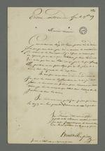 Lettre de Brucelle, carabinier détenu à la prison militaire de Lyon, condamné à mort lors du conseil de guerre du