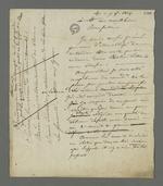 Lettre de Pierre Charnier adressée au détenu Brucelle, carabinier condamné à mort lors du conseil de guerre du