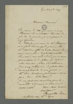 Lettre de Brucelle, carabinier condamné à mort lors du conseil de guerre du