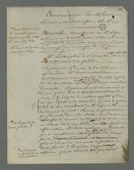 Communiqué effectué par Lortet au sujet des témoins à décharge dans l'affaire Brucelle, carabinier accusé d'avoir participé à l'insurrection de juin 1849, lors du second conseil de guerre du