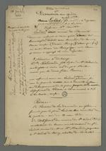 Notes préalables à la rédaction de demande de grâce à la faveur d'Etienne Lardet, condamné à la déportation par le premier conseil de guerre du