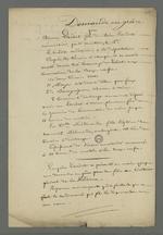 Copie et compte-rendu de la demande en grâce effectuée par le père d'Etienne Lardet, condamné à la déportation par le premier conseil de guerre du