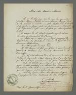 Lettre de Jallin, commissaire de police de Vaise concernant son avis négatif sur la personne d'Etienne Lardet, condamné à la déportation par le premier conseil de guerre du