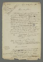 Lettre de Lardet adressée à son fils Etienne, détenu condamné à la déportation par le premier conseil de guerre du